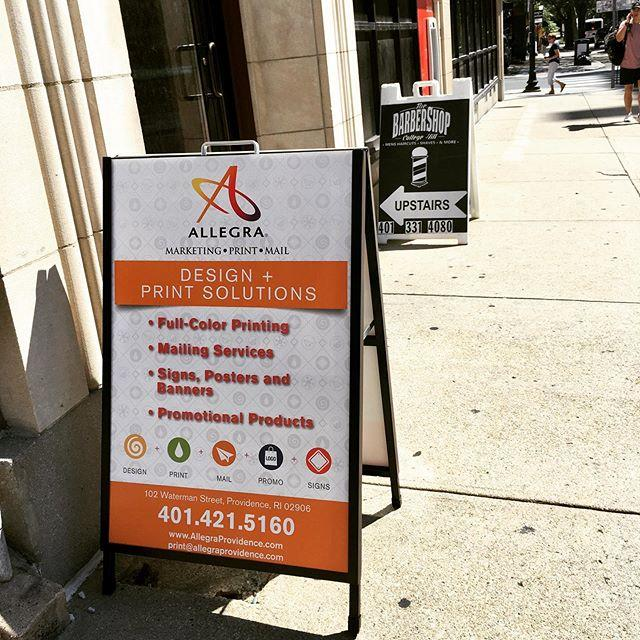 Outdoor A-Frame Signage - Allegra Marketing Print Mail, Providence, RI