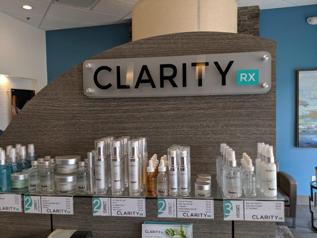 We Are Proud To Bring ClarityRx Cosmecuetical Products To Burleson
