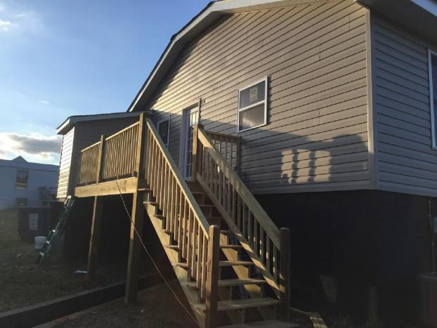 Deck and door added to Rental property in Mooresville ,NC After