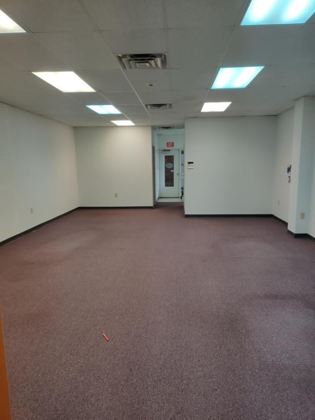 Office floor in Mooresville, NC  Before