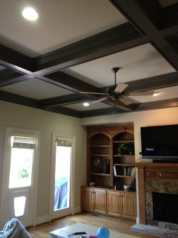 Built in and Coffered work done in Huntersville,NC