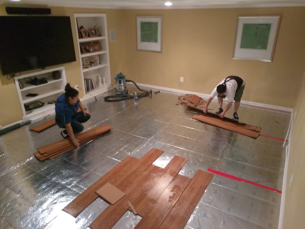 Removal of vinyl wood flooring