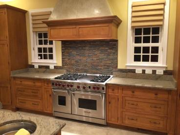 Kitchen back splash install finished