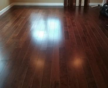 Vinyl wood floor install finish