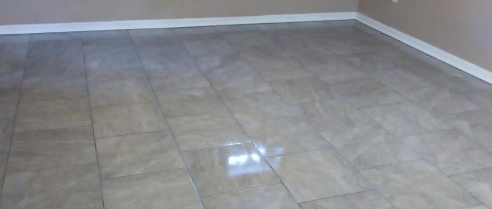 Floor tile install