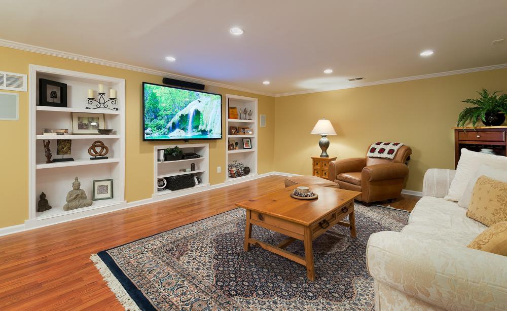 TV entertainment room built