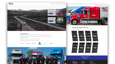 Gazic Trucking Website Design