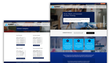 Summit Laboratory Website Redesign