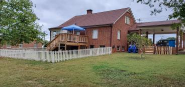 After fence and deck
