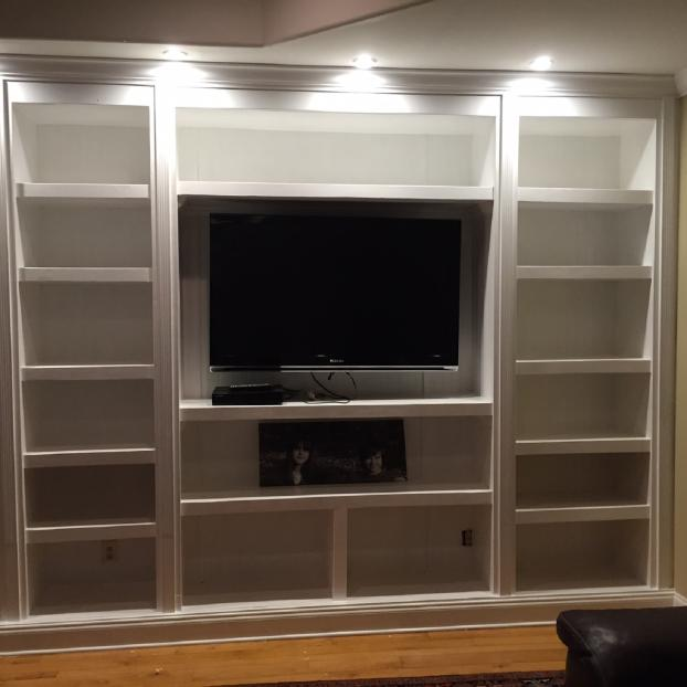 Built in Cookbook display with LED Lights Mooresville, NC