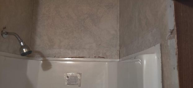 Mooresville Home needed Shower Dressed up ! Before