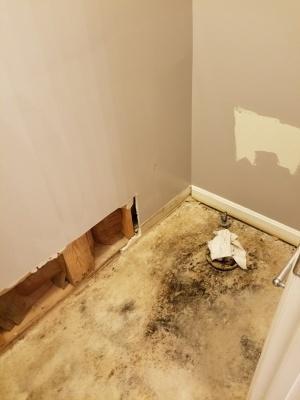 Master bathroom water pipe leak
