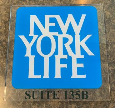 Acrylic office Sign for NYL Insurance Company