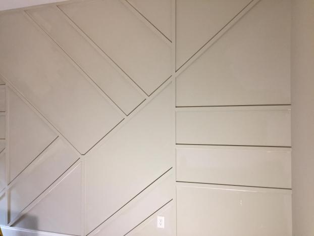 Accent wall to set off the new office in Mooresville, North Carolina