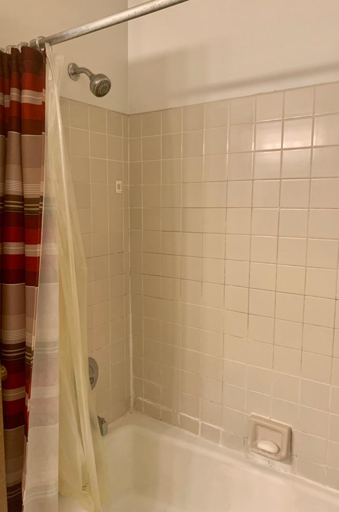 This outdated tile was causing mold and mildew and customers came to us needing a bathroom remodel.