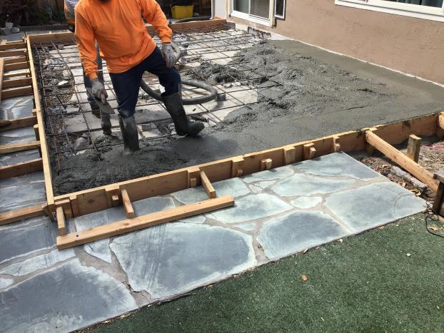 Reinforced concrete foundation