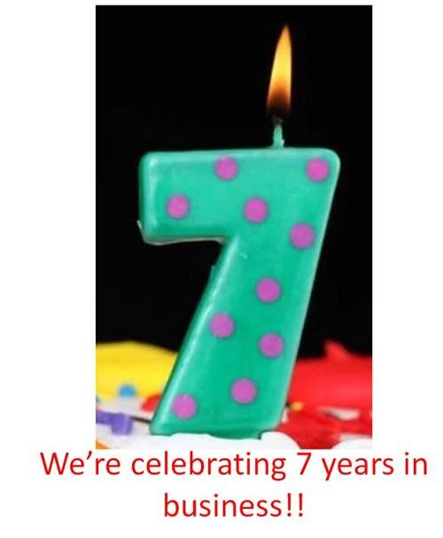 7 Years in Business!