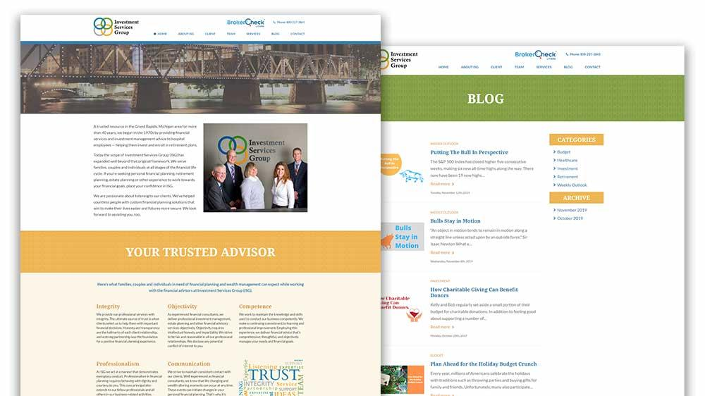 ISG Advisor Website Redesign