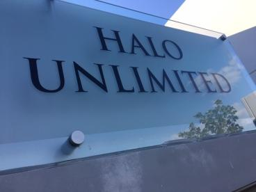 Acrylic sign for Halo Unlimited in Corona, CA