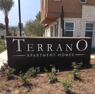 Terrano Apartment Homes monument sign