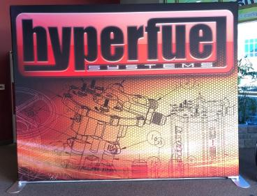 Step & Repeat Backdrop for Hyperfuel Systems