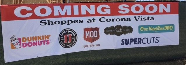 Corona Vista shopping center banner