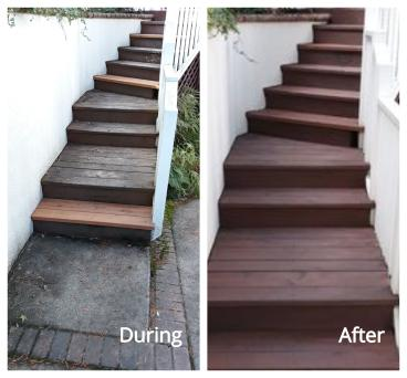 Exterior Staircase Refinished