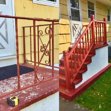 Stair Railing Exterior Job Orange CT