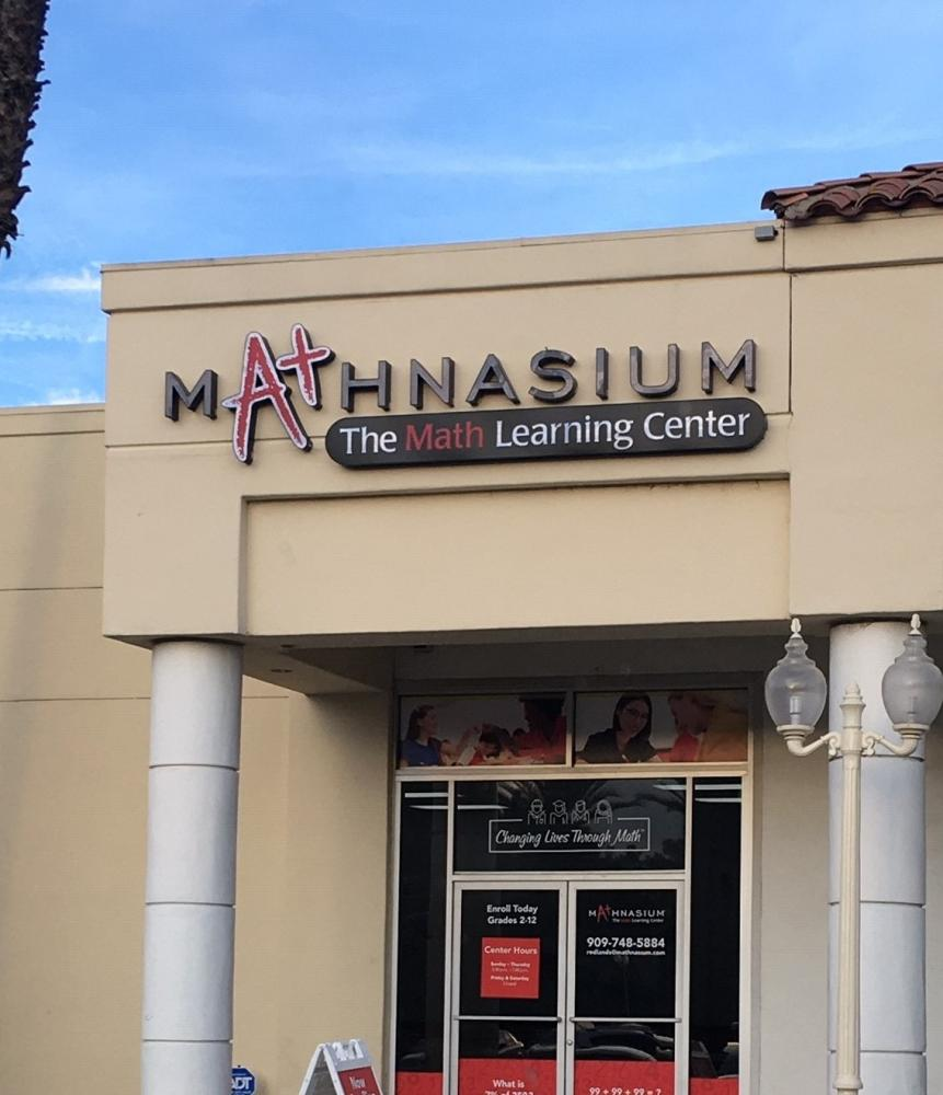 Completed storefront for Mathnasium in Redlands, CA