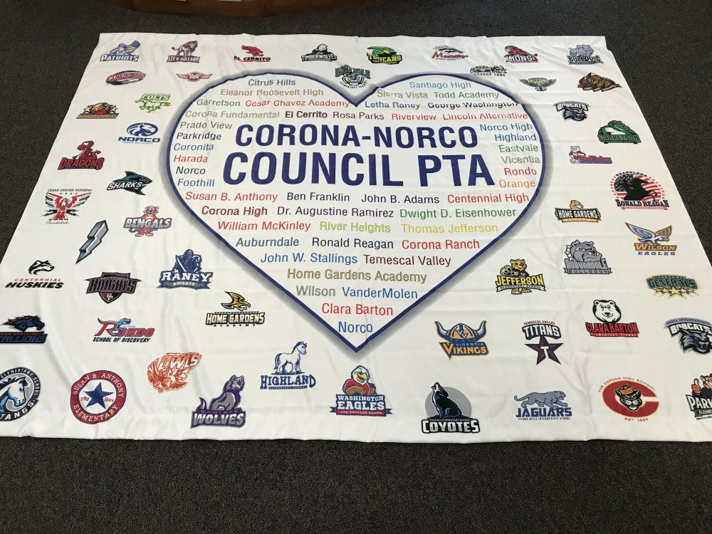 Backdrop for Corona-Norco PTA