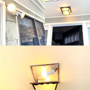 Exterior Light Fixture Repaired in Shelton CT