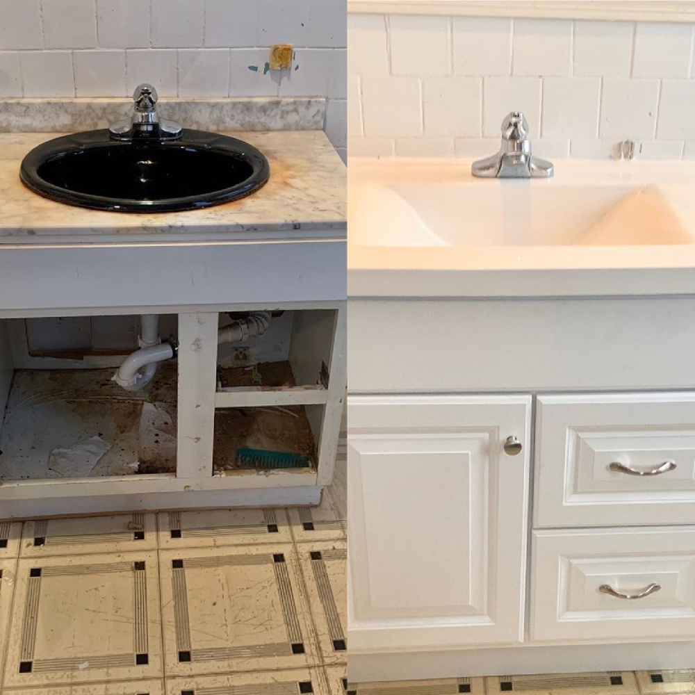 Replace Old Sink with New Vanity in West Haven Connecticut