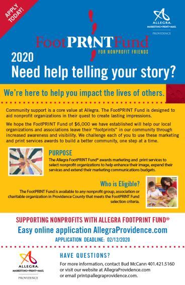 FootPrint Fund Flyer 2020