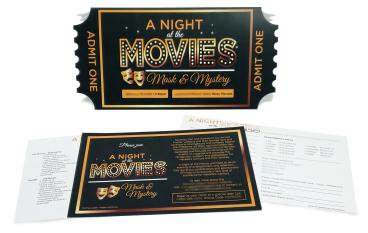 Night at the Movies Invitations (2)
