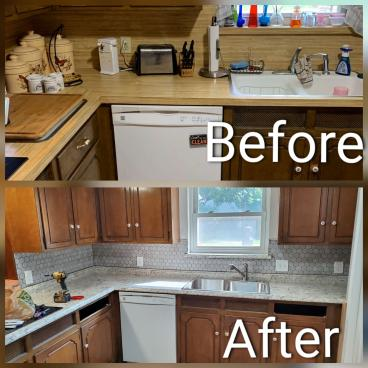 Kitchen Remodel, Backsplash Tile, Fort Worth, TX