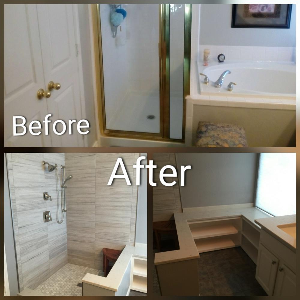 Bathroom Remodel, Tile shower, Carpentry, Mansfield, TX