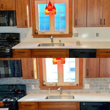 Kitchen Back-splash Install in Orange Connecticut 06477