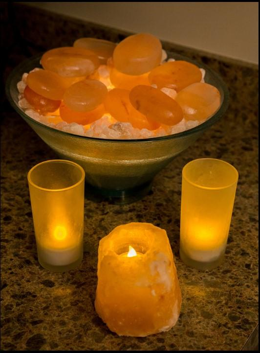 Relaxing Candles and Stones
