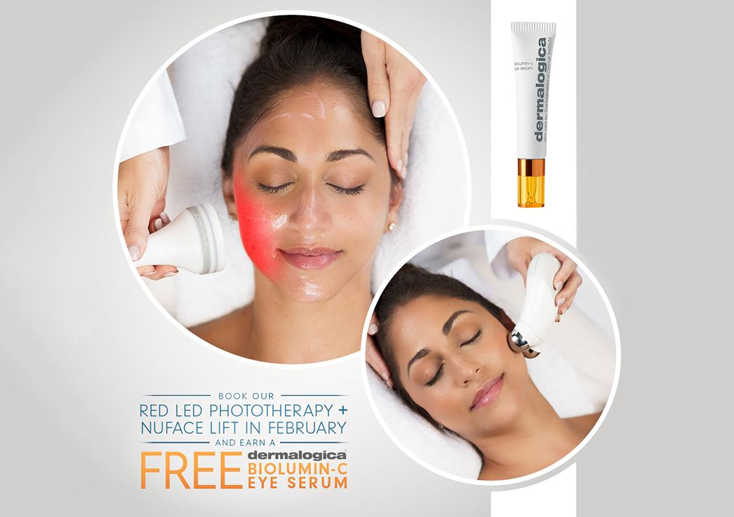 February Facial Special: Red LED Phototherapy plus NuFace Lift Facial with FREE Gift