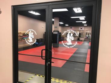 Olson Martial Arts Door graphics