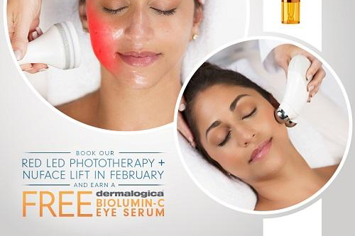 February Facial Special: Red LED Phototherapy plus NuFace Lift Facial with FREE Gift!