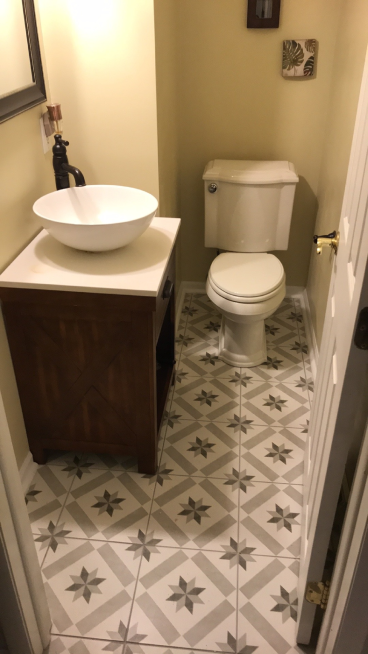 Installed Flooring in Bathroom in New Albany