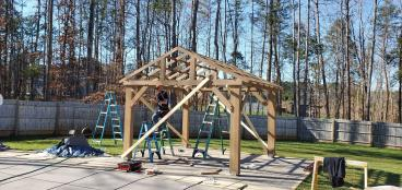 Portico Project from premade Kit - Mooresville, NC