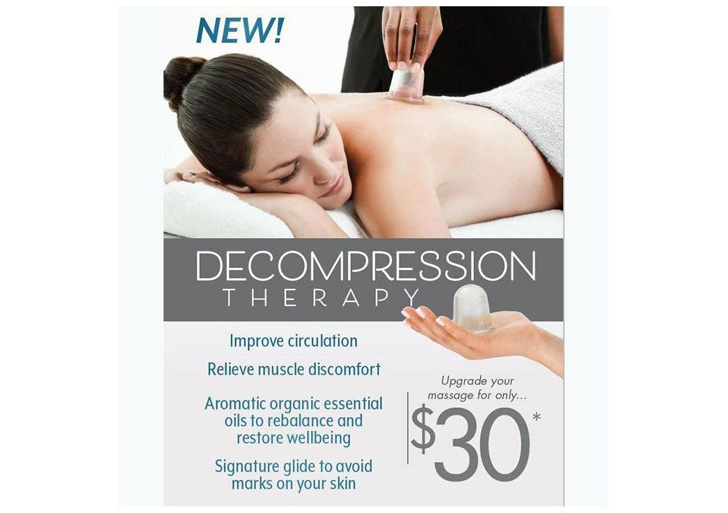 Try our new Decompression/Cupping Therapy