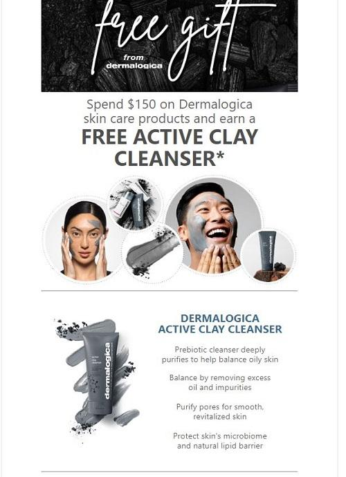 Free Gift with $150 Dermalogica Purchase