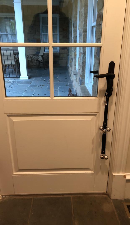 Prior to doggie door install