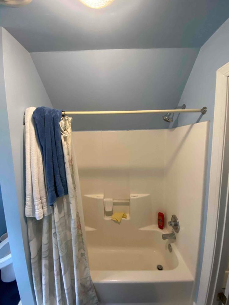 One piece fiberglass tub that is installed in many homes in need of an update.