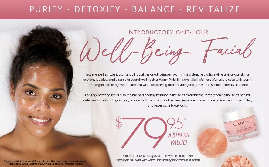 Well Being Facial for $79.95
