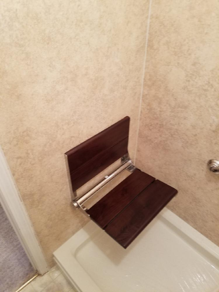 Safe, foldaway shower seat