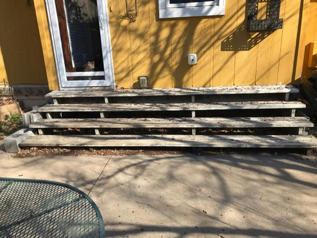 Rotting Stairs with Normal Wear & Tear